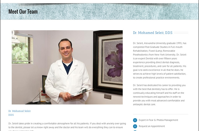 Dr. Seleit proudly launches his new website.